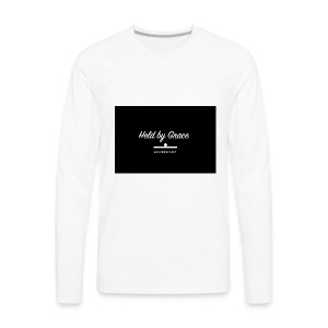 held by grace - Men's Premium Long Sleeve T-Shirt