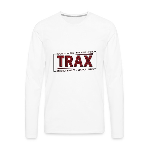 Trax Record Store -an homage to Pretty in Pink - Men's Premium Long Sleeve T-Shirt