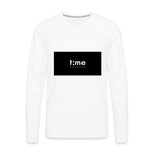 time - Men's Premium Long Sleeve T-Shirt