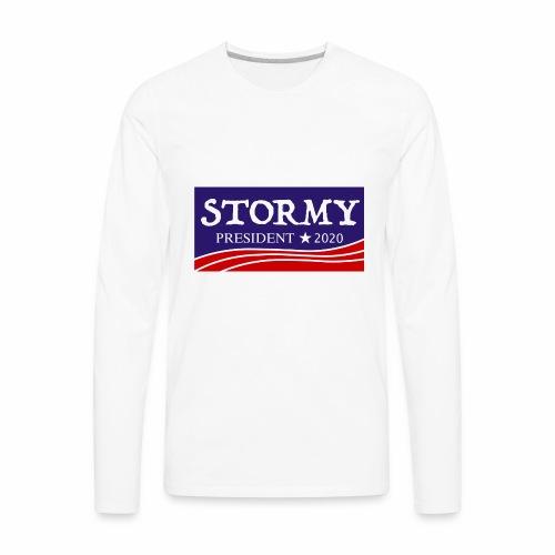 stormy for president 2020 - Men's Premium Long Sleeve T-Shirt
