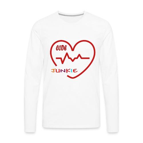 code junkie - Men's Premium Long Sleeve T-Shirt