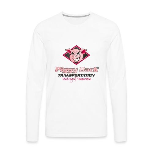 PiggyBack Transportation Logo - Men's Premium Long Sleeve T-Shirt