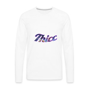 Thicc Galaxy - Men's Premium Long Sleeve T-Shirt