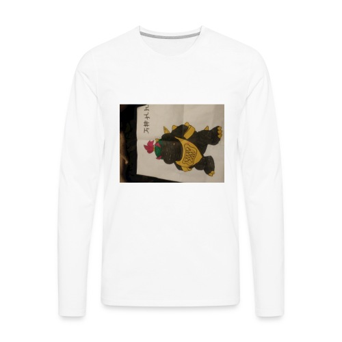 Black Bowser jr. gangster - Men's Premium Long Sleeve T-Shirt