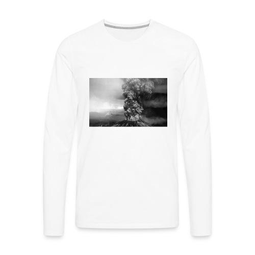 volcano smoke - Men's Premium Long Sleeve T-Shirt