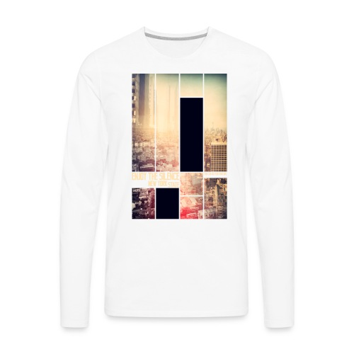 Enjoy the silence New York T-shirt - Men's Premium Long Sleeve T-Shirt