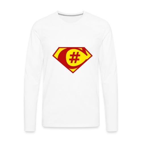 C Sharp Hero Developer - Men's Premium Long Sleeve T-Shirt