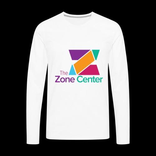 Zone Center T Shirt Logo MultiColor - Men's Premium Long Sleeve T-Shirt