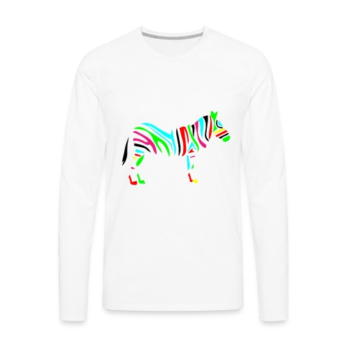 Wild_zebra - Men's Premium Long Sleeve T-Shirt