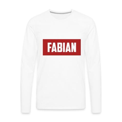 Fabian Logo - Men's Premium Long Sleeve T-Shirt