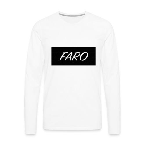 FARO_Logo - Men's Premium Long Sleeve T-Shirt