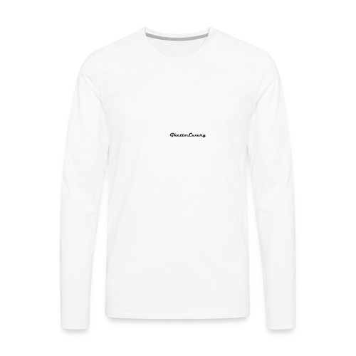 ghettoluxurylogo - Men's Premium Long Sleeve T-Shirt