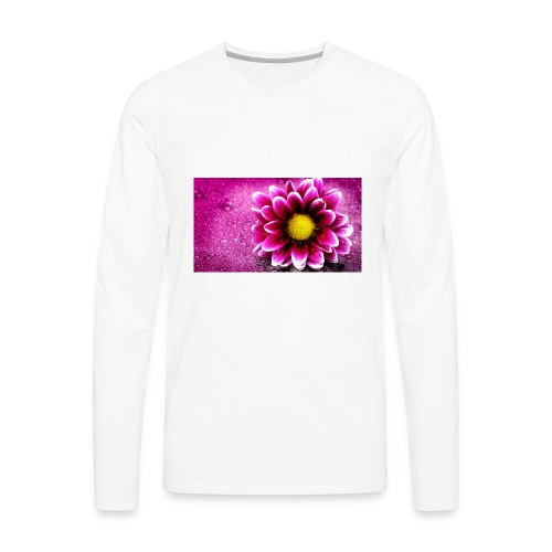 pink flower 4k 3840x2 - Men's Premium Long Sleeve T-Shirt