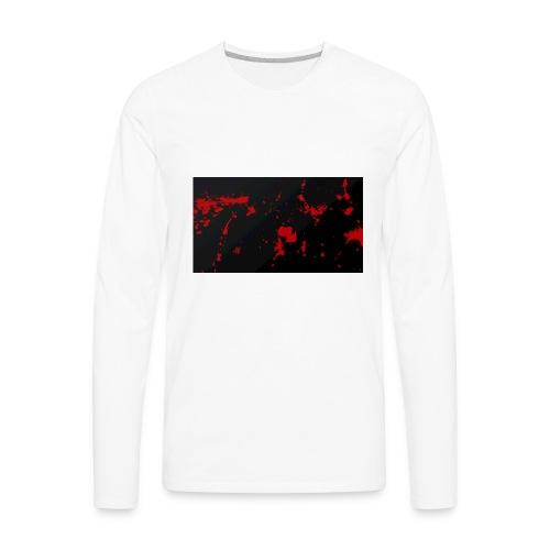 blood splatter background by pudgey77 d4ozy89 - Men's Premium Long Sleeve T-Shirt