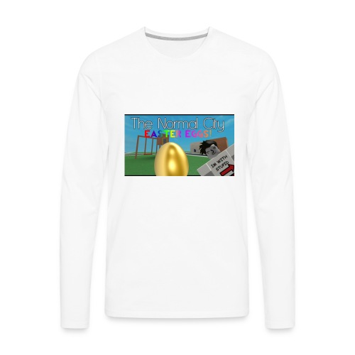 Roblox Easter Egg Hunt Shirt - Men's Premium Long Sleeve T-Shirt