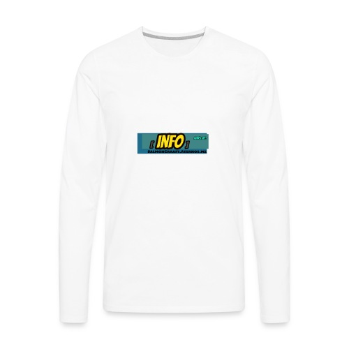 SalmonCraaft's info - Men's Premium Long Sleeve T-Shirt