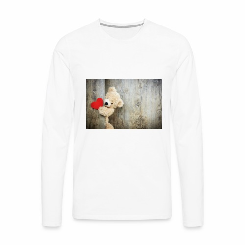 Heart Bear - Men's Premium Long Sleeve T-Shirt