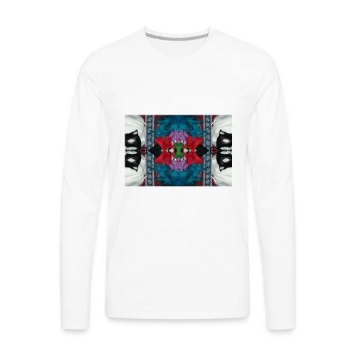 Funny yet eerie dracula hallucination - Men's Premium Long Sleeve T-Shirt