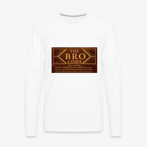 barney stinson how i met your mother the bro code - Men's Premium Long Sleeve T-Shirt