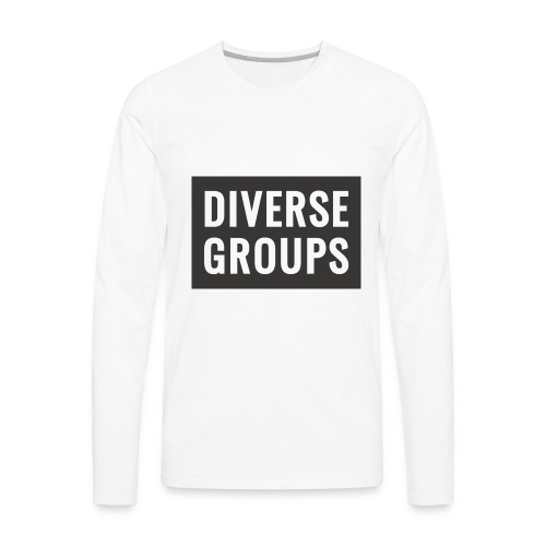 DG Logo black - Men's Premium Long Sleeve T-Shirt