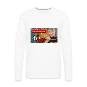 40 subs shirt - Men's Premium Long Sleeve T-Shirt