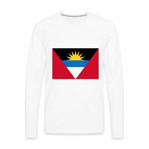 Flag of Antigua and Barbuda - Men's Premium Long Sleeve T-Shirt