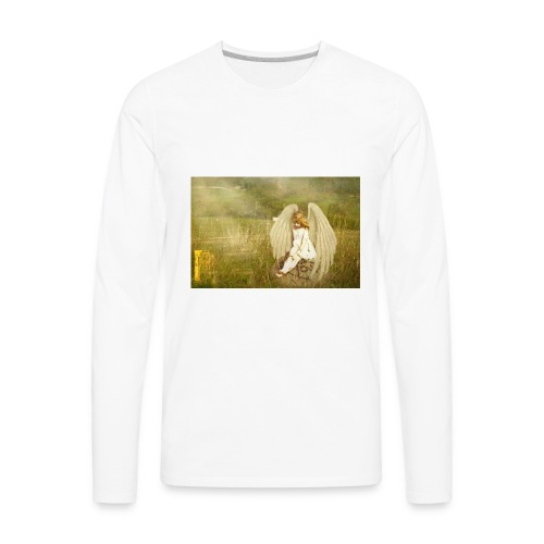 An Angel to Watch Over You - Men's Premium Long Sleeve T-Shirt