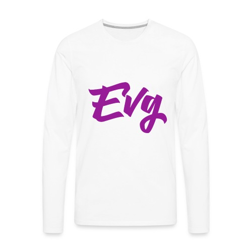 eVG Logo - Men's Premium Long Sleeve T-Shirt