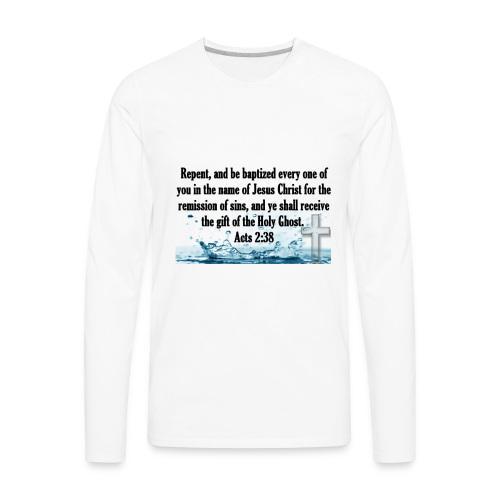 ACTS 2:38 - Men's Premium Long Sleeve T-Shirt