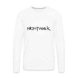 Nightwalk Logo - Men's Premium Long Sleeve T-Shirt