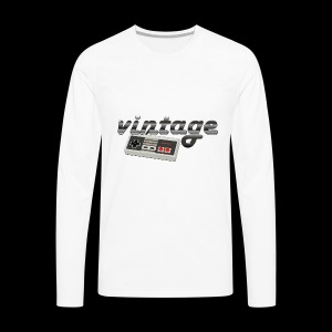 Vintage Gaming - Men's Premium Long Sleeve T-Shirt