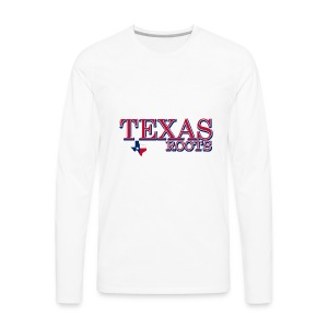 texas roots image - Men's Premium Long Sleeve T-Shirt