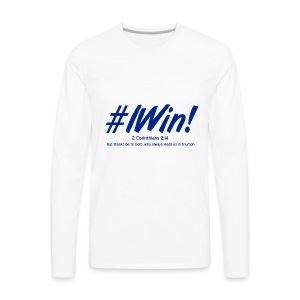 I win Blue - Men's Premium Long Sleeve T-Shirt