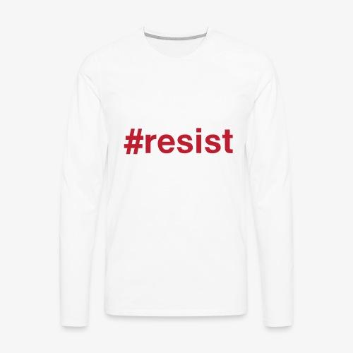 resist - Men's Premium Long Sleeve T-Shirt