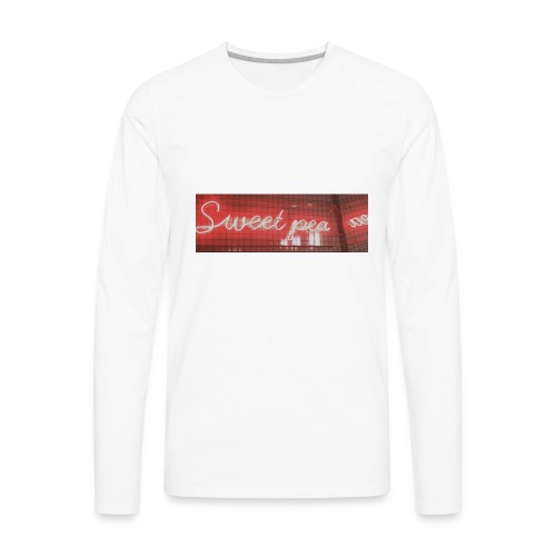 Sweet Pea Lighted Sign - Men's Premium Long Sleeve T-Shirt