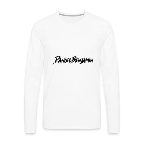 Daniel Benjamin Black Logo - Men's Premium Long Sleeve T-Shirt