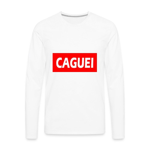 CAGUEI VERMELHO - Men's Premium Long Sleeve T-Shirt