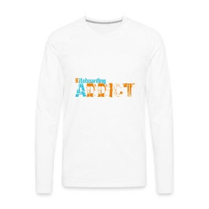 Kiteboarding addict - Men's Premium Long Sleeve T-Shirt