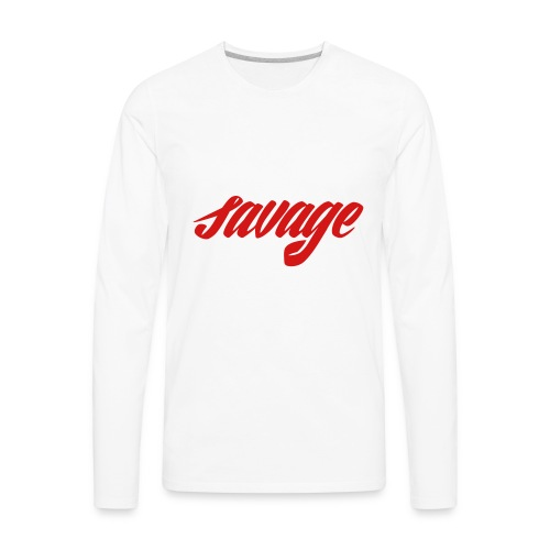 savage dude - Men's Premium Long Sleeve T-Shirt