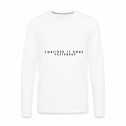 Rebound Offical Montra Text Tee/Sweatshirt/Hoodie - Men's Premium Long Sleeve T-Shirt