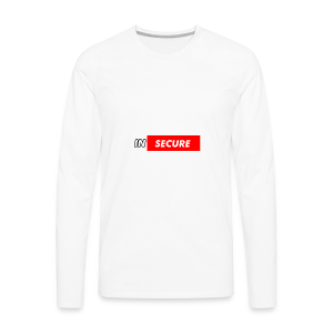 funny Insecure supreme like design - Men's Premium Long Sleeve T-Shirt