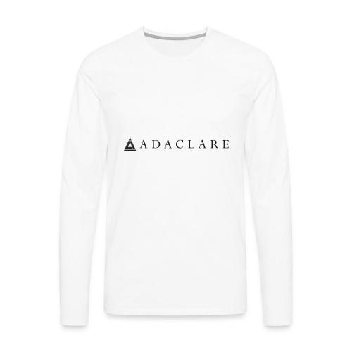 New Adaclare Logo - Men's Premium Long Sleeve T-Shirt