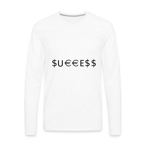 Money is Success. Success is Money - Men's Premium Long Sleeve T-Shirt