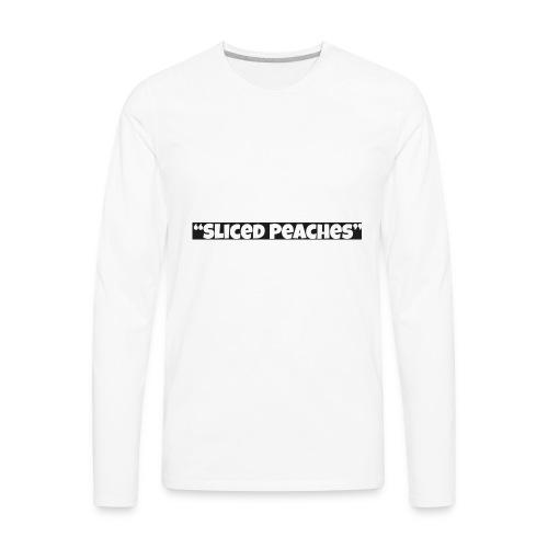 Sliced Peaches Mens T-Shirt - Men's Premium Long Sleeve T-Shirt
