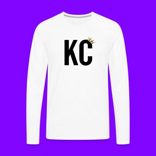 Black Font KC - Men's Premium Long Sleeve T-Shirt