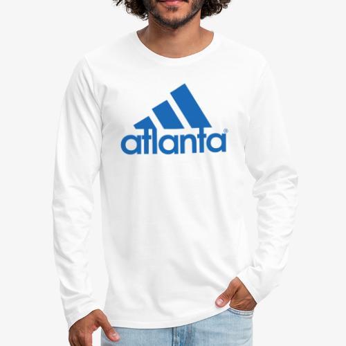 adlanta blue edges - Men's Premium Long Sleeve T-Shirt