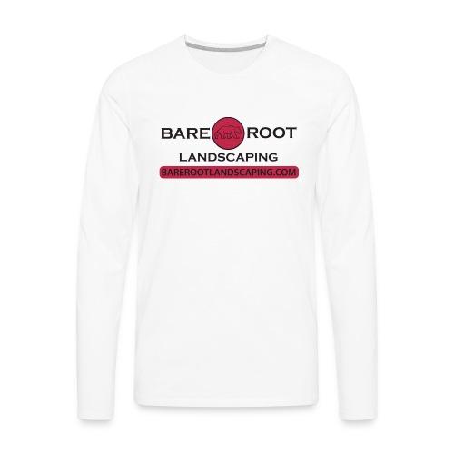 Bare Root Logo- Black - Men's Premium Long Sleeve T-Shirt