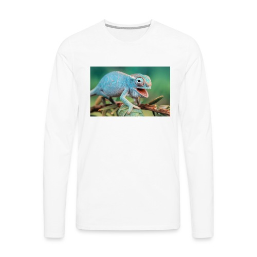King Chameleon - Men's Premium Long Sleeve T-Shirt