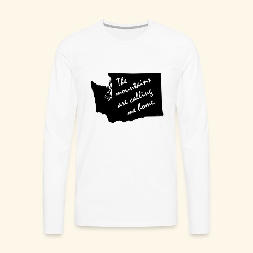 Washington mountains - Men's Premium Long Sleeve T-Shirt