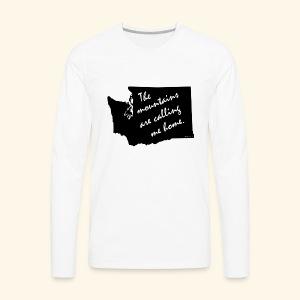 Washington mountains - Men's Premium Long Sleeve T-Shirt